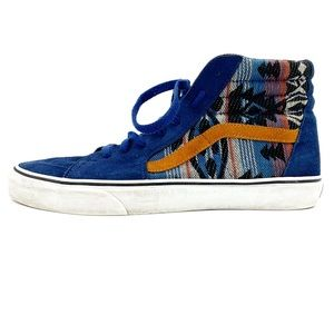 Vans Sk8-Hi Suede Inca Blue & Orange Skate Shoes